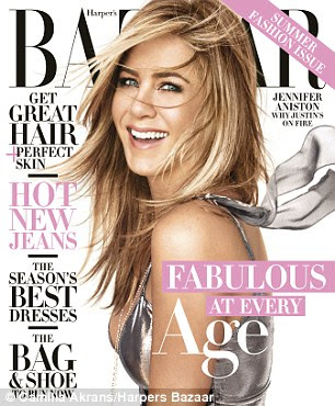 Cover girl: Jennifer features in Harper's Bazaar's April issue, which hits newsstands on March 22