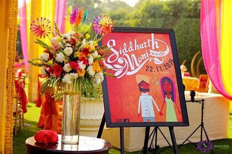 Wedding Decorations   Name Board #bigindianwedding #