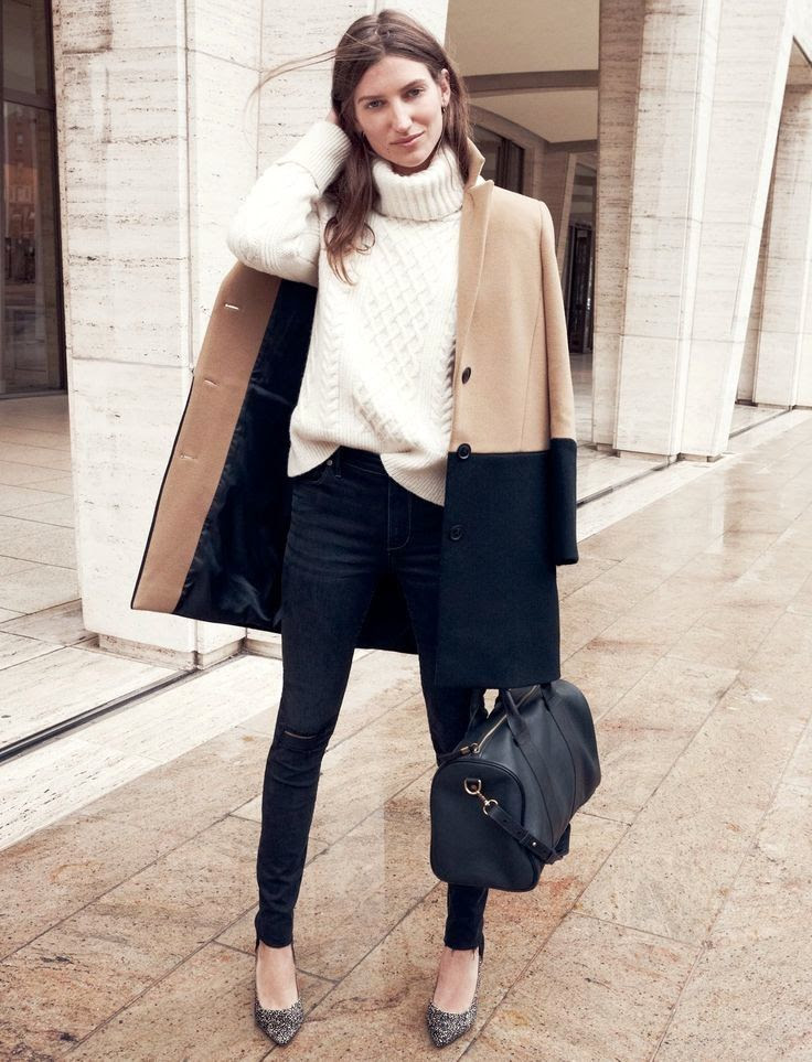 Le Fashion Blog -- Parisian Cool: Sezane for Madewell Collection -- Colorblock Coat, Turtleneck Sweater, Satchel, Skinny Jeans -- Animal Print Heel -- French Chic -- photo Le-Fashion-Blog-Parisian-Cool-Sezane-Madewell-Collection-Colorblock-Coat-Turtleneck-Sweater-Satchel-Animal-Print-Heel.jpg