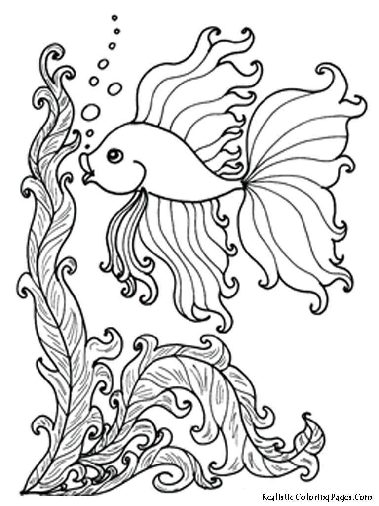 Realistic Fish Coloring Pages at GetColorings.com | Free ...