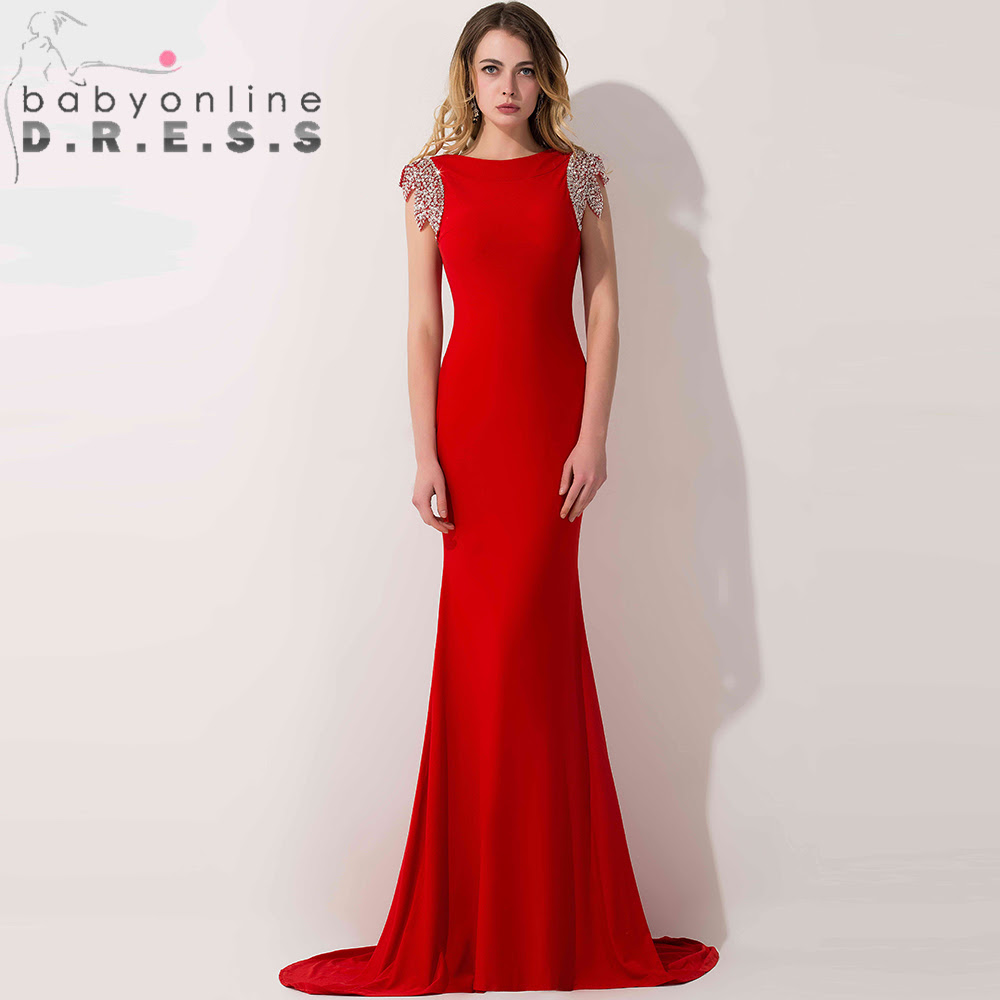Red evening gowns on sale