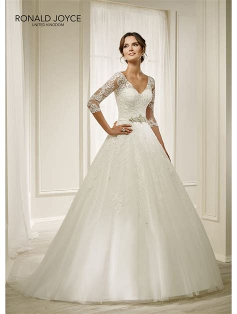Ronald Joyce 69211 HOLLY Detailed Ball Gown With 3/4