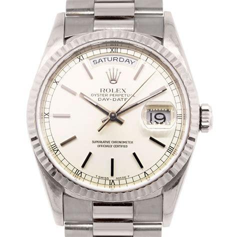 Rolex 18239 Day Date 18k White Gold Presidential Watch