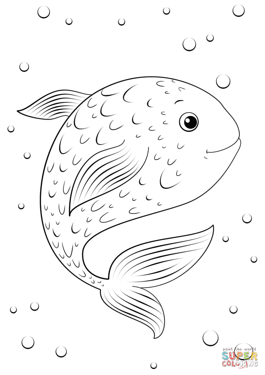 Cartoon Fish coloring page | Free Printable Coloring Pages