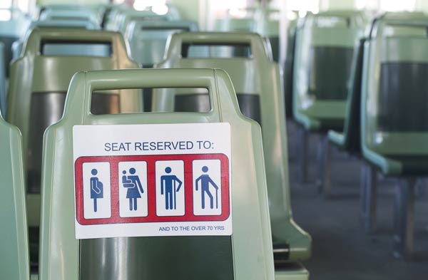 Reserved priority seat