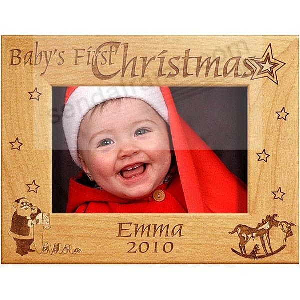 Babys First Christmas Keepsake Frame Personalized Picture