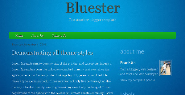 Best Blue Blogger Templates