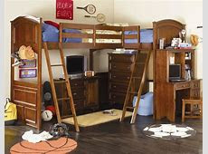 Bedroom: Exciting Full Size Loft Bed With Desk For