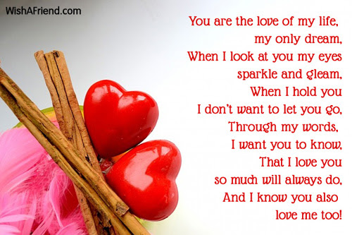You Are The Love Of My Love Message