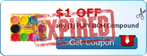 $1.00 off any (1) PLAY-DOH Compound
