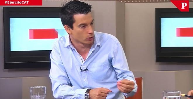 El exteniente Segura, durante el programa de PúblicoTV sobre el Ejército y Catalunya.