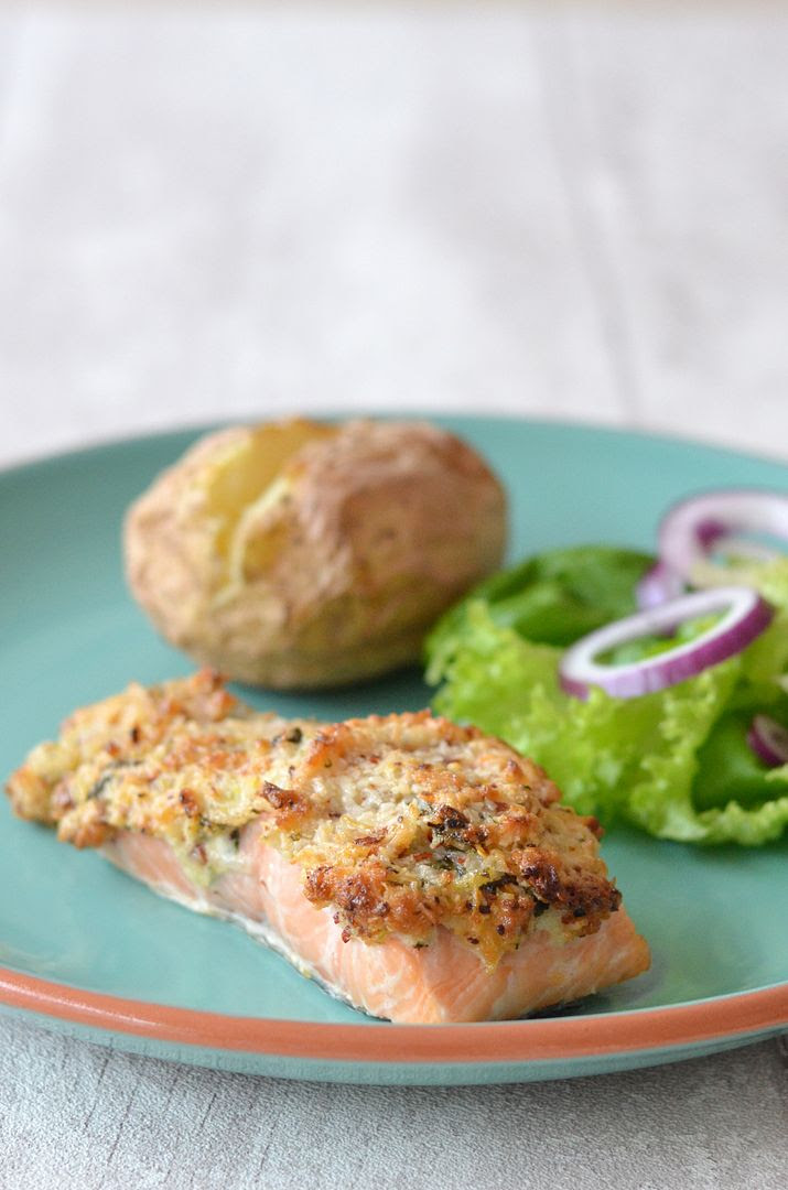 Salmon with chilli & lemon coconut crust