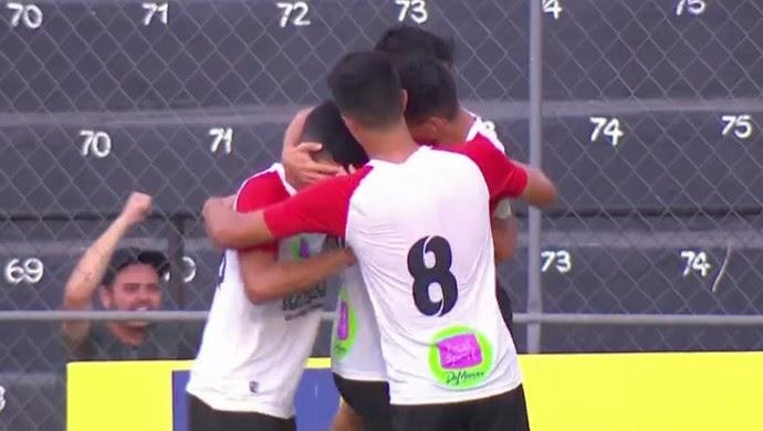 Paulista x São Carlos Copa São Paulo (Foto: Reprodução / SporTV)