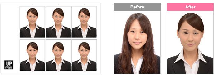 就職活動用の証明写真やプロフィール写真なら大阪心斎橋の