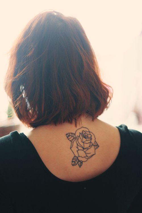 Beautiful Black Inked Rose Best Tattoo Design Ideas