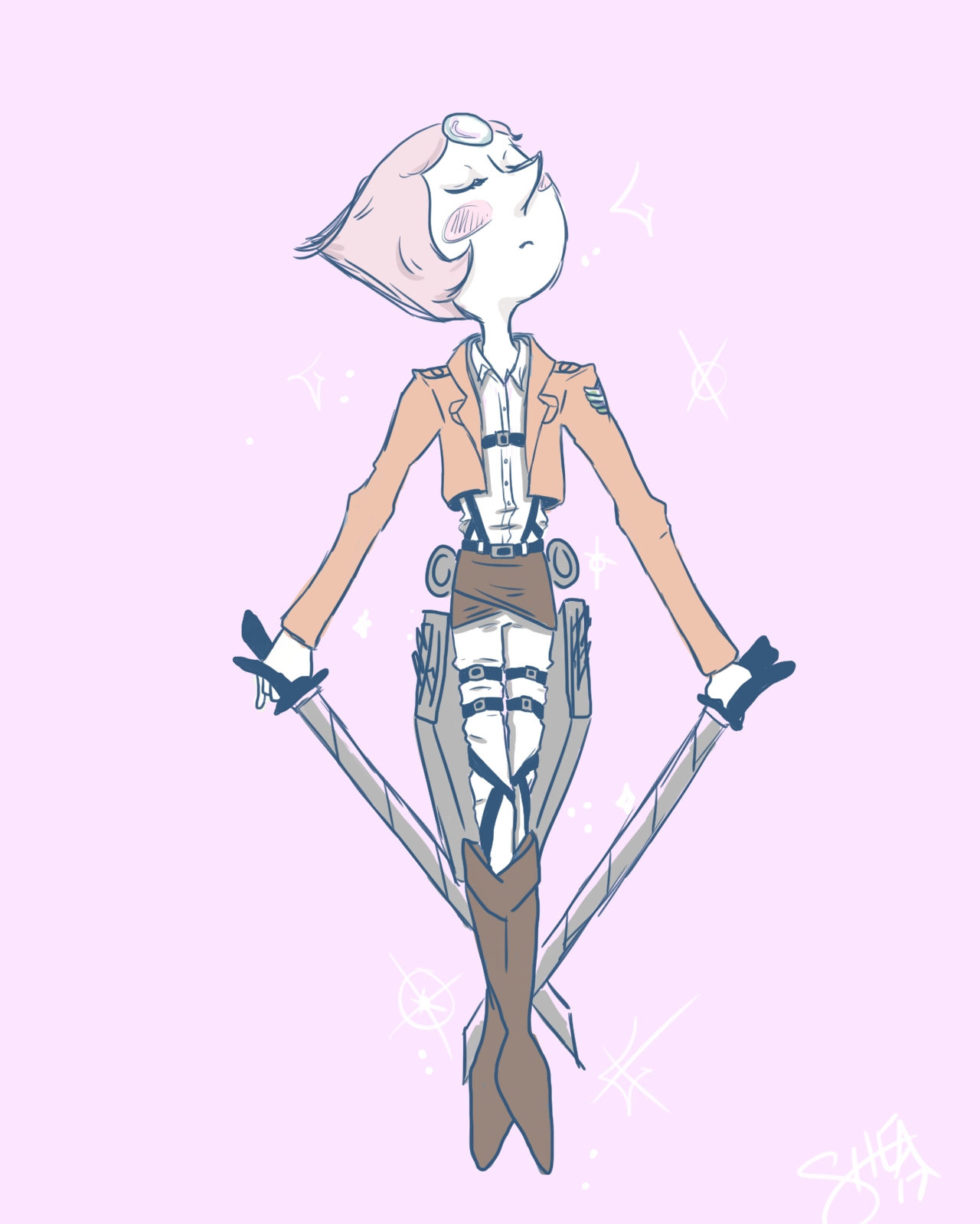 Pearl // Scout Regiment AU would she not be a boss