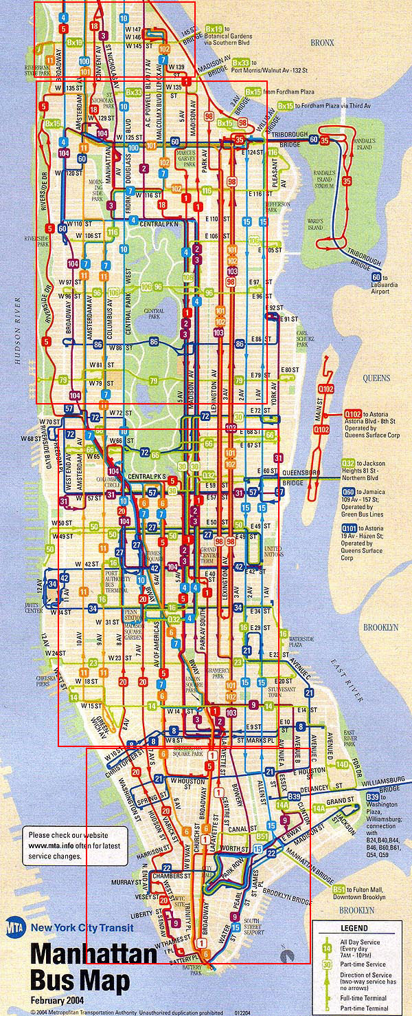 New York City Bus Map Mta Bus Map Manhattan | Gadgets 2018
