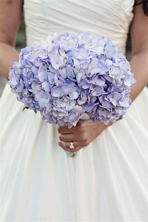 Purple Hydrangea Bridal Bouquet   Wedding ideas in 2019
