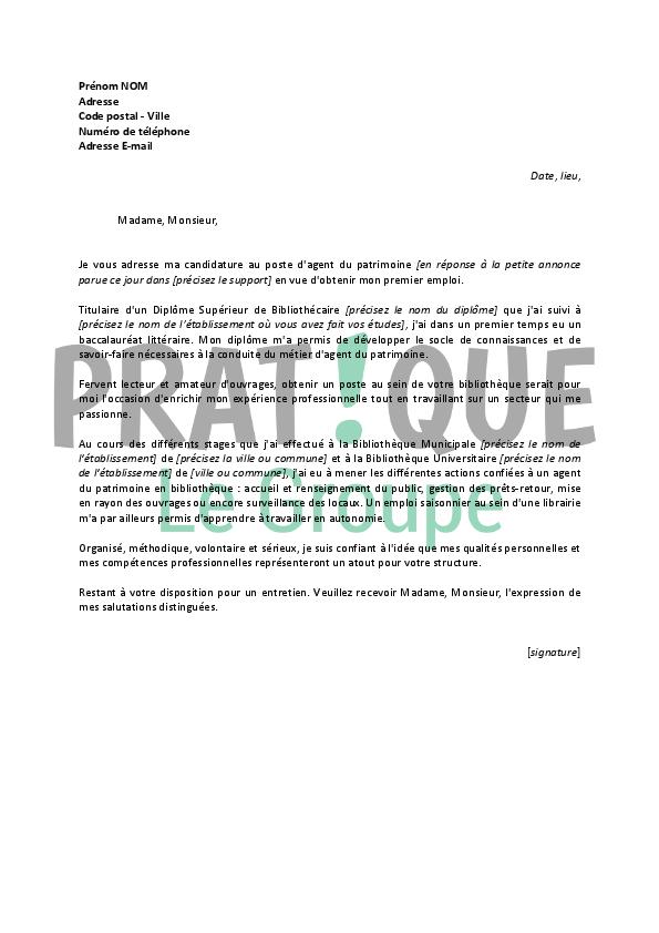 Lettre De Motivation Agent D Accueil Touristique Sans Experience