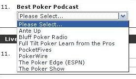 Bluff Magazine's choices for best poker podcast