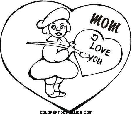 Dibujo Con Te Quiero Mamá En Inglés