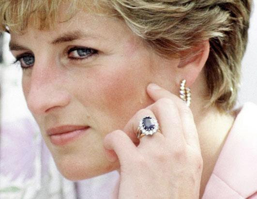Princess Diana with her engagement ring | Tacky Harper's Cryptic Clues