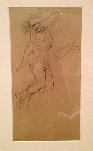 Degas' preparatory sketch