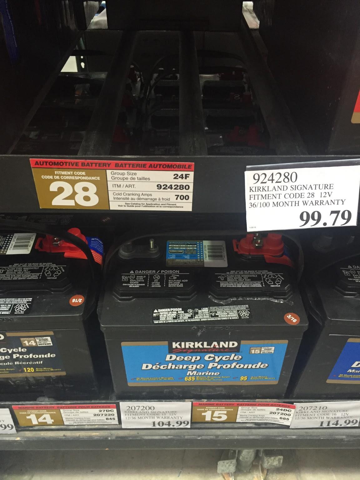 Costco 27dc Battery