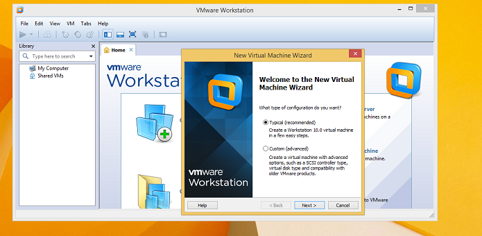 Criando máquina virtual no VMWare Workstation, no Windows 8 (Foto: Reprodução/Edivaldo Brito)