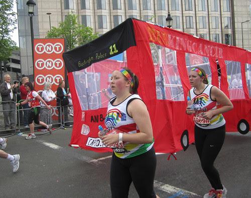 Running with a bus - London Marathon 2011