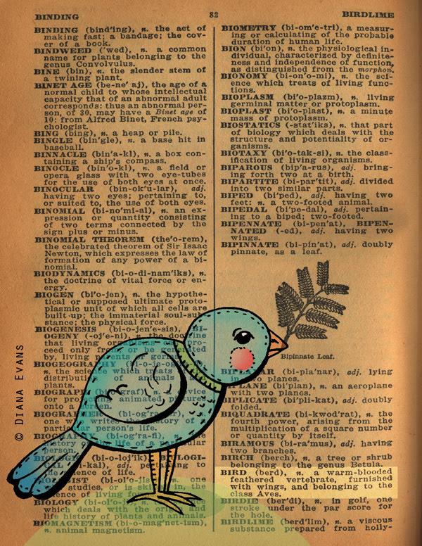 !940s Dictionary bird