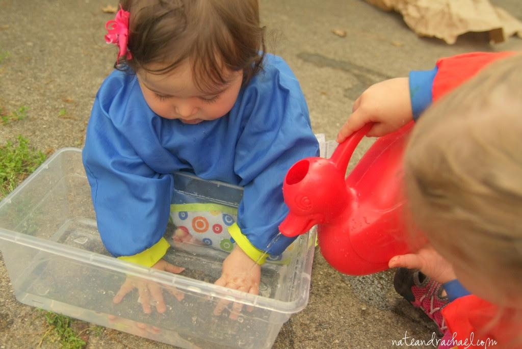Edible sensory play--water