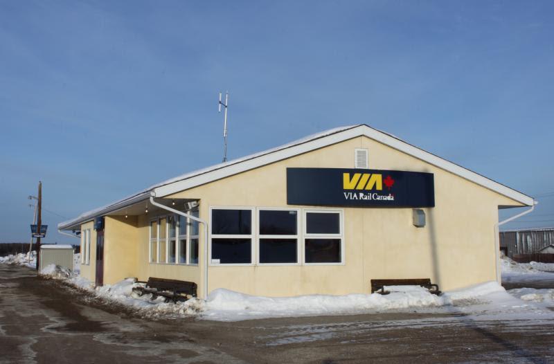 VIA Rail station in Thompson Manitoba