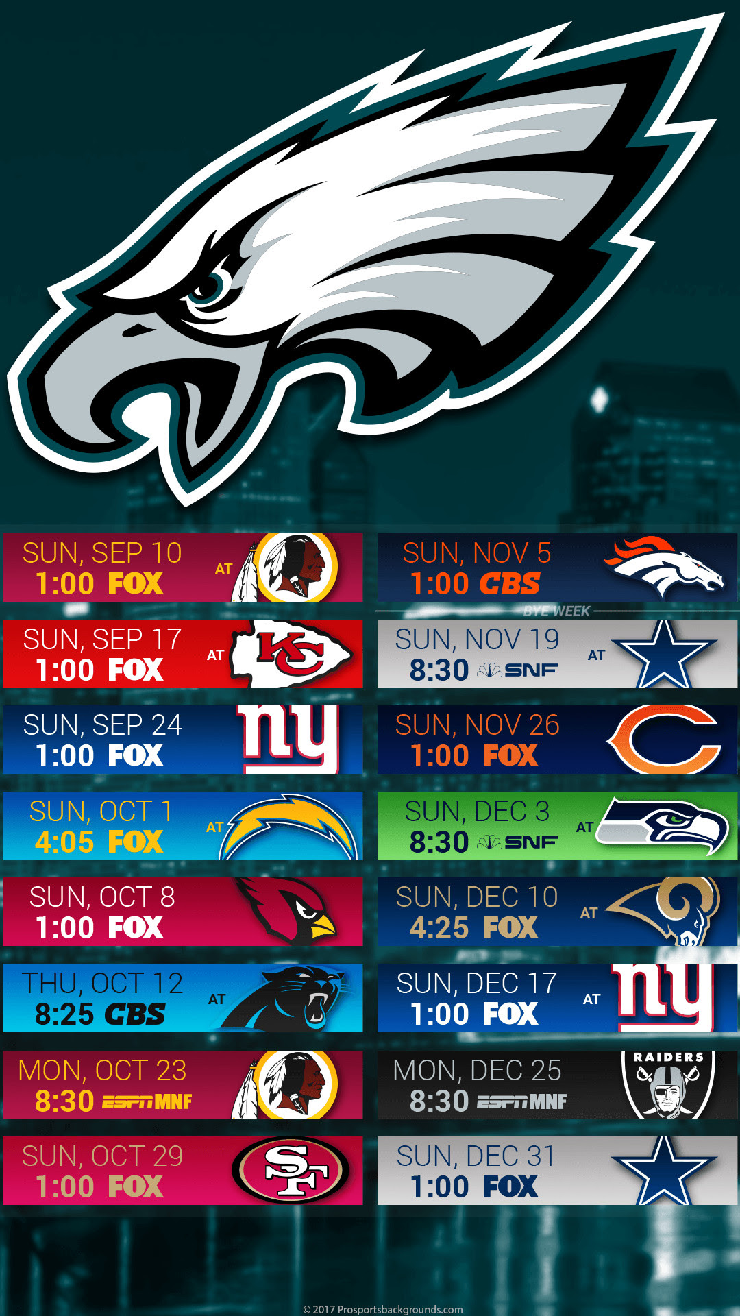 Philadelphia Eagles Schedule Iphone Wallpaper