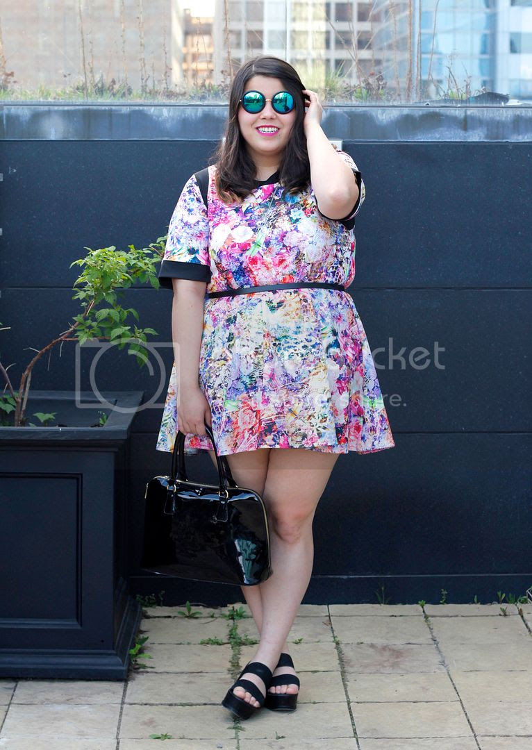 Multicoloured Floral Textured Tunic Yours Clothing