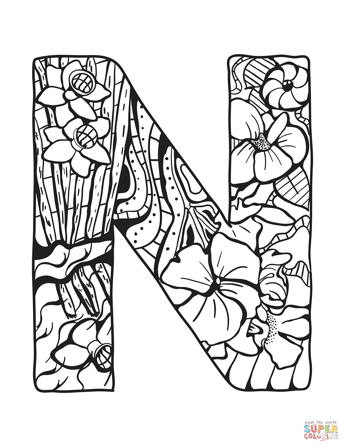 610 Coloring Pages In Letters Images & Pictures In HD