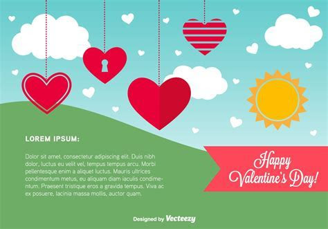 Happy Valentine's Day Card Template   Download Free Vector