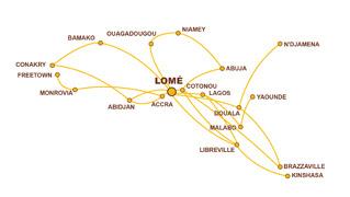 ASKY Airlines Lomé, Togo Feeder network (ASKY)