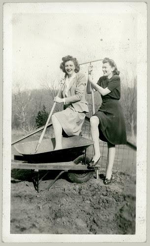 Two women and a Wheelbarrow