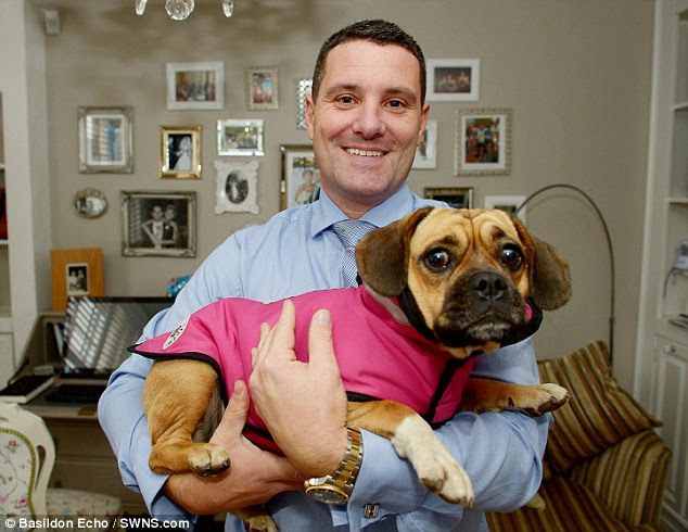 The 43-year-old created the suit after hearing about Bobby Norris' dog, Beau, being attacked
