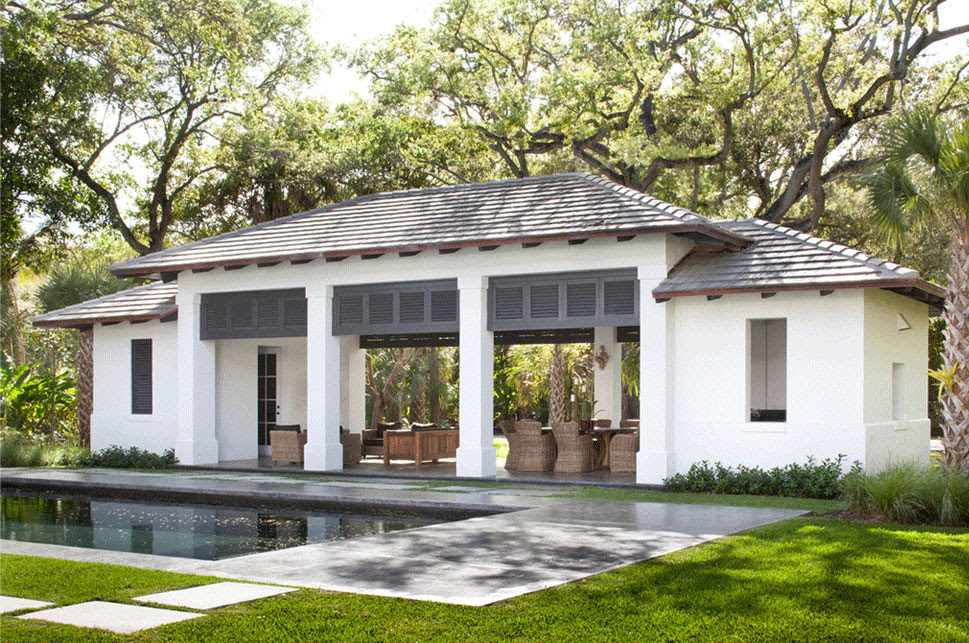 Neoclassical-Style Miami Home With Pool Pavilion ...