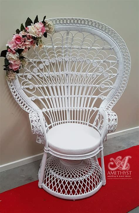 White Peacock Chair   $100hire