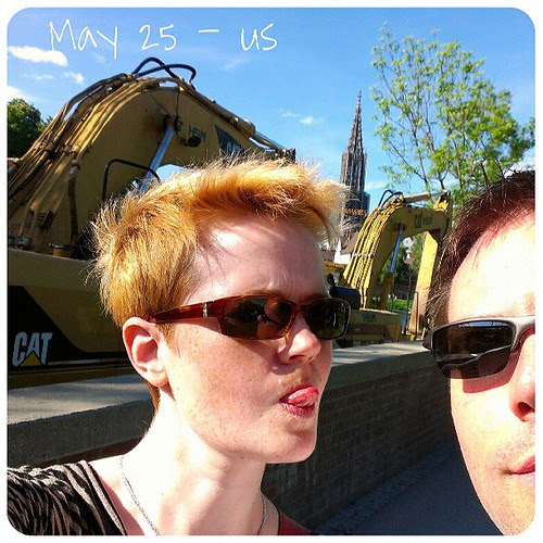 May 25: us .. and me making fun .. #fmsphotoaday