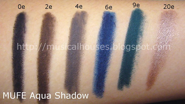 mufe aqua shadow pencils swatches 1