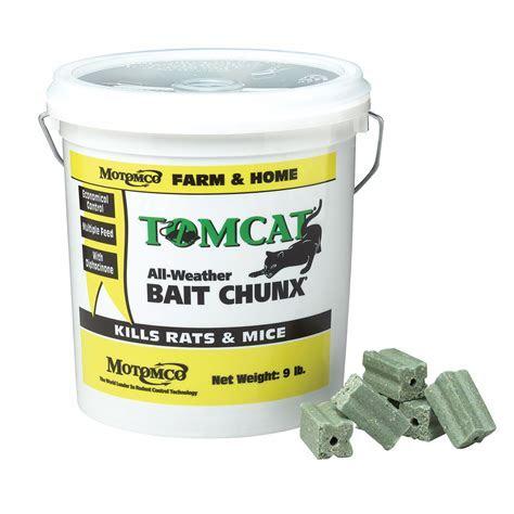 Motomco Tomcat Rat Bait 9 lb. Bucket Chunx   QC Supply
