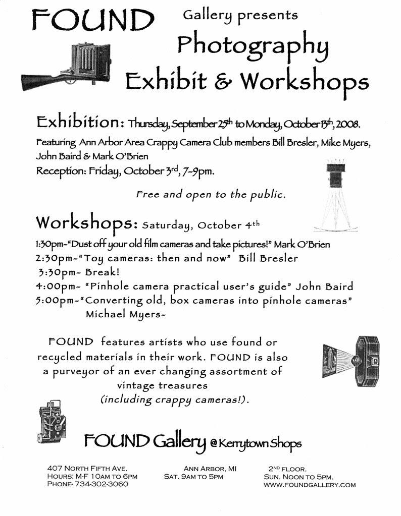Found Exhibit and Workshops