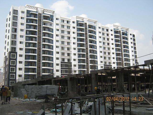 Sparklet - Megapolis Smart Homes 1, Hinjewadi Phase 3, Pune 411057 - under construction podium & A 13,14,15 Buildings