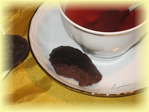 FINANCIERS DE CHOCOLATE Y NARANJA