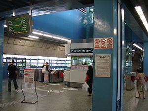 Concourse level, Queenstown MRT Station on the...