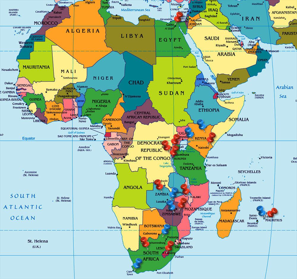 Africa map mauritius map of africa map of africa gumiabroncs Gallery